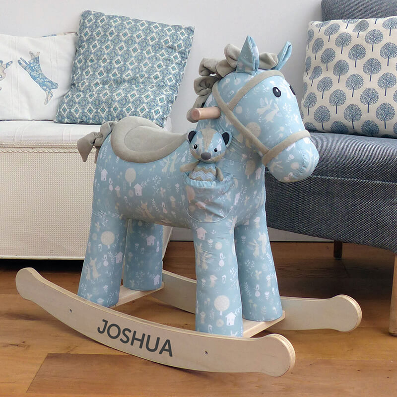 A range of wonderful personalised rocking horses for your little loved ones.
