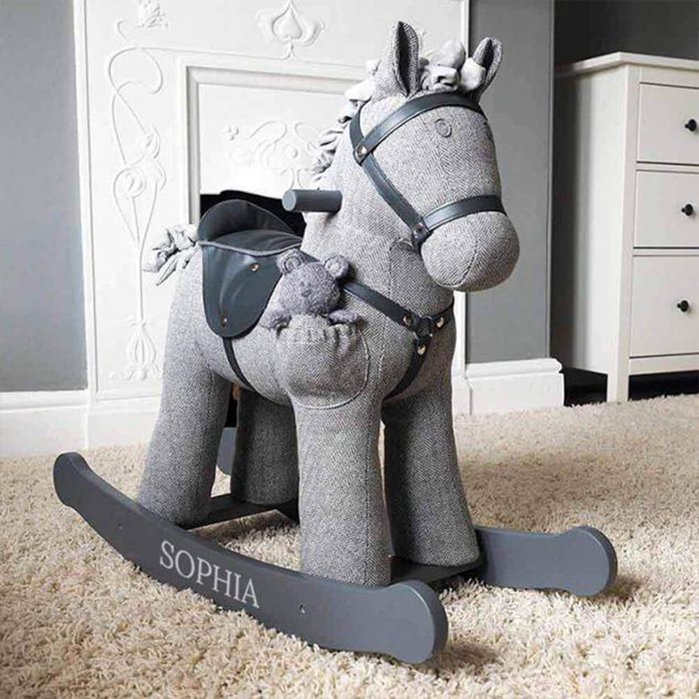 Personalised rocking horses from Custom Gifts.